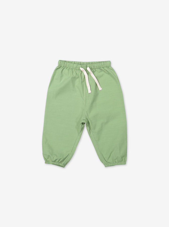 Drawstring pants for baby-Unisex-0-1y-Green