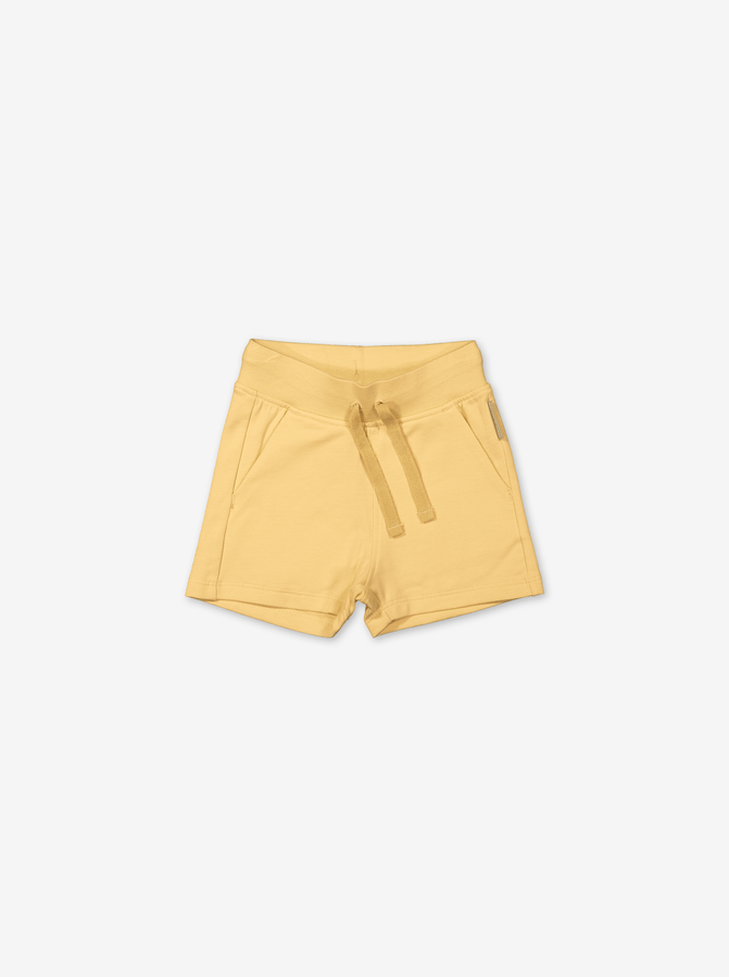 Soft Cotton Baby Shorts-Unisex-0-1y-Yellow