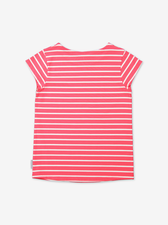 Stripe T-shirt-Girl-6-12y-Pink