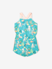 Playsuit with underwater print-Girl-6-12y-Turquoise