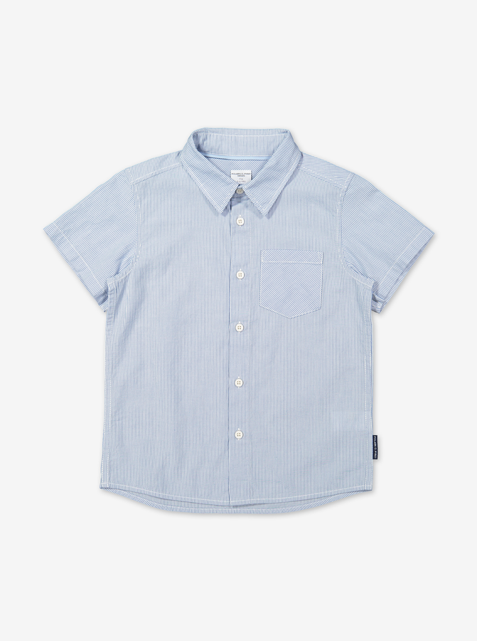 Summer Check Kids Shirt-Boy-1-12y-White