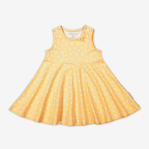 Polka Dot Baby Dress-Girl-0-1y-Yellow