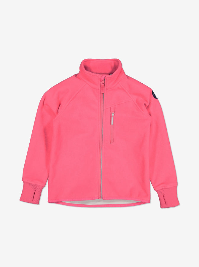 Keep your little ones cosy as they adventure with our waterproof pink fleece jacket. Made from recycled bottles and available in ages 1-12 years. Shop today.
