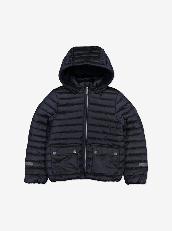 Kids Water Resistant Winter Puffer Jacket-6-12y-Navy-Boy