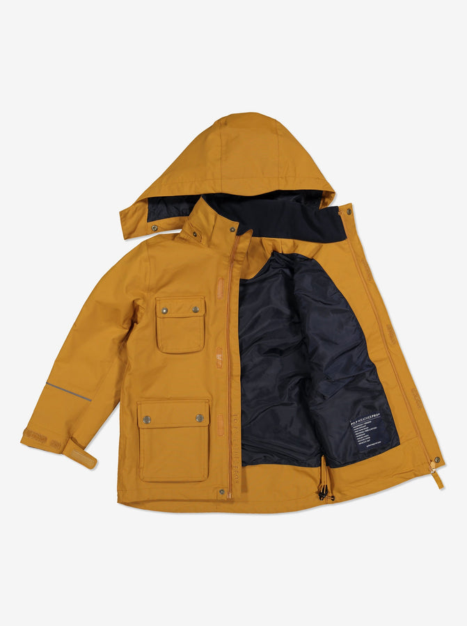 Kids Waterproof Shell Coat-6-12y-Brown-Boy