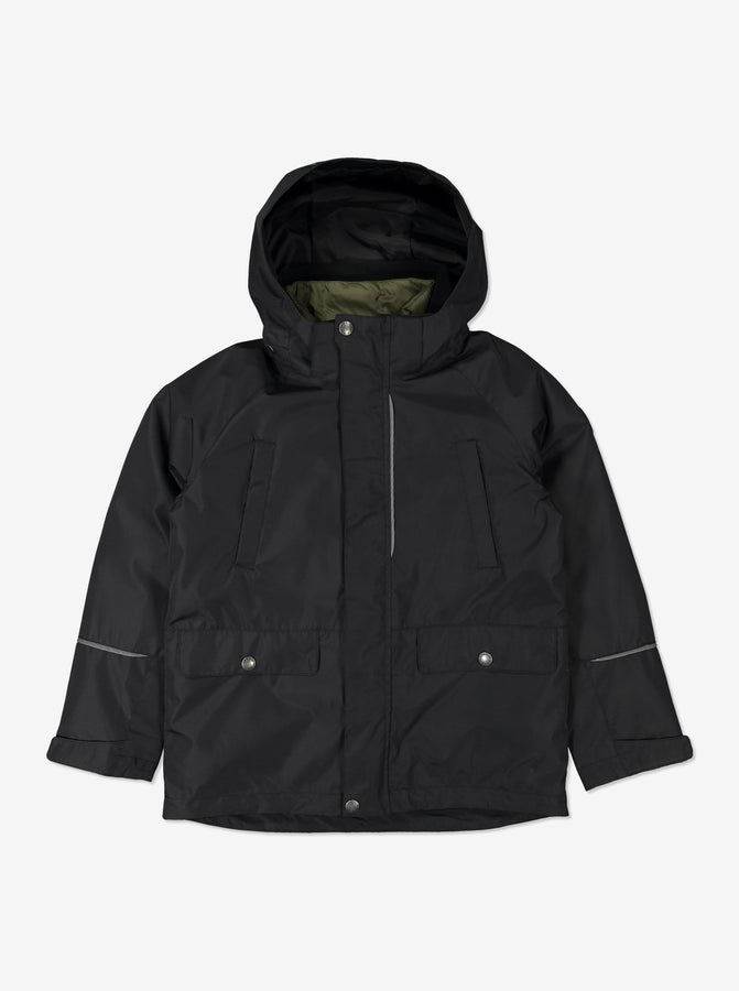 3 in 1 Shell & Puffer Combo-6-12y-Black-Boy