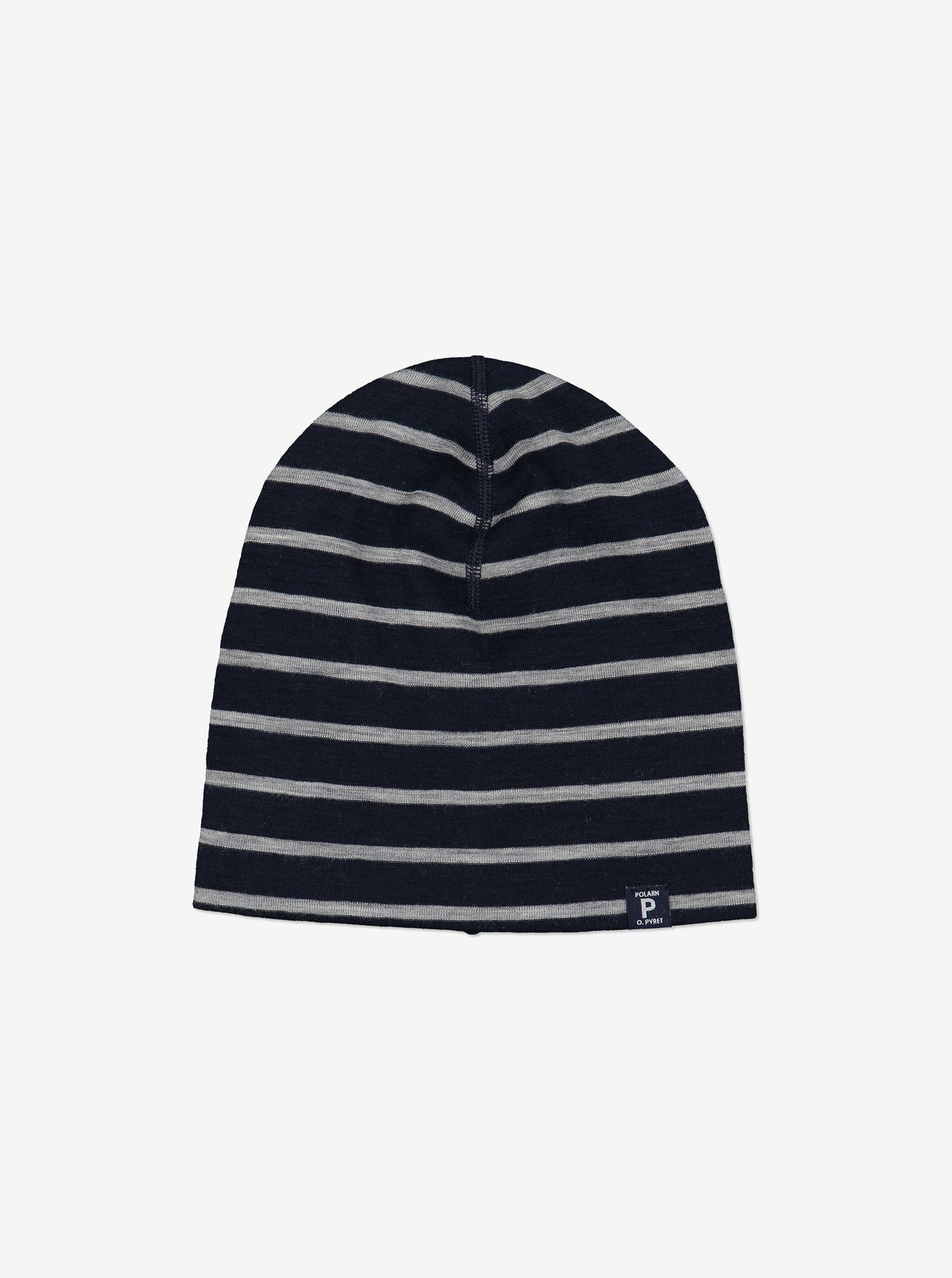 Merino Wool Kids Beanie Hat-4m-12y-Navy-Boy