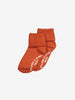 Two Pack Antislip Kids Socks-Unisex-4m-6y-Red