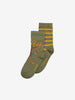 Two Pack Kids Socks-Unisex-2-12y-Green
