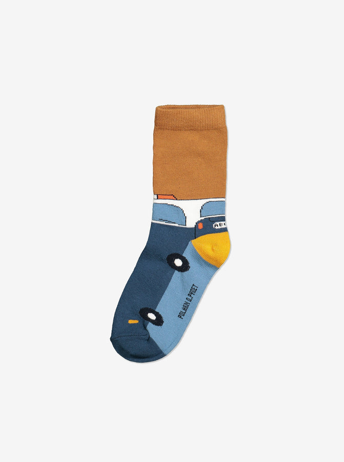 3 Pack Kids Socks-Unisex-1-8y-Blue