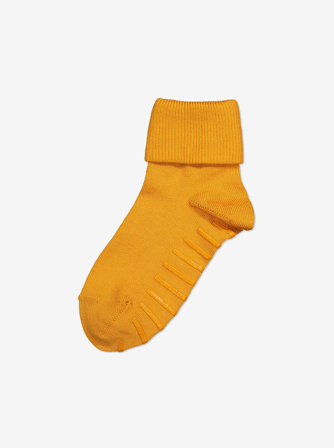 Merino Antislip Kids Socks-Unisex-4m-6y-Yellow