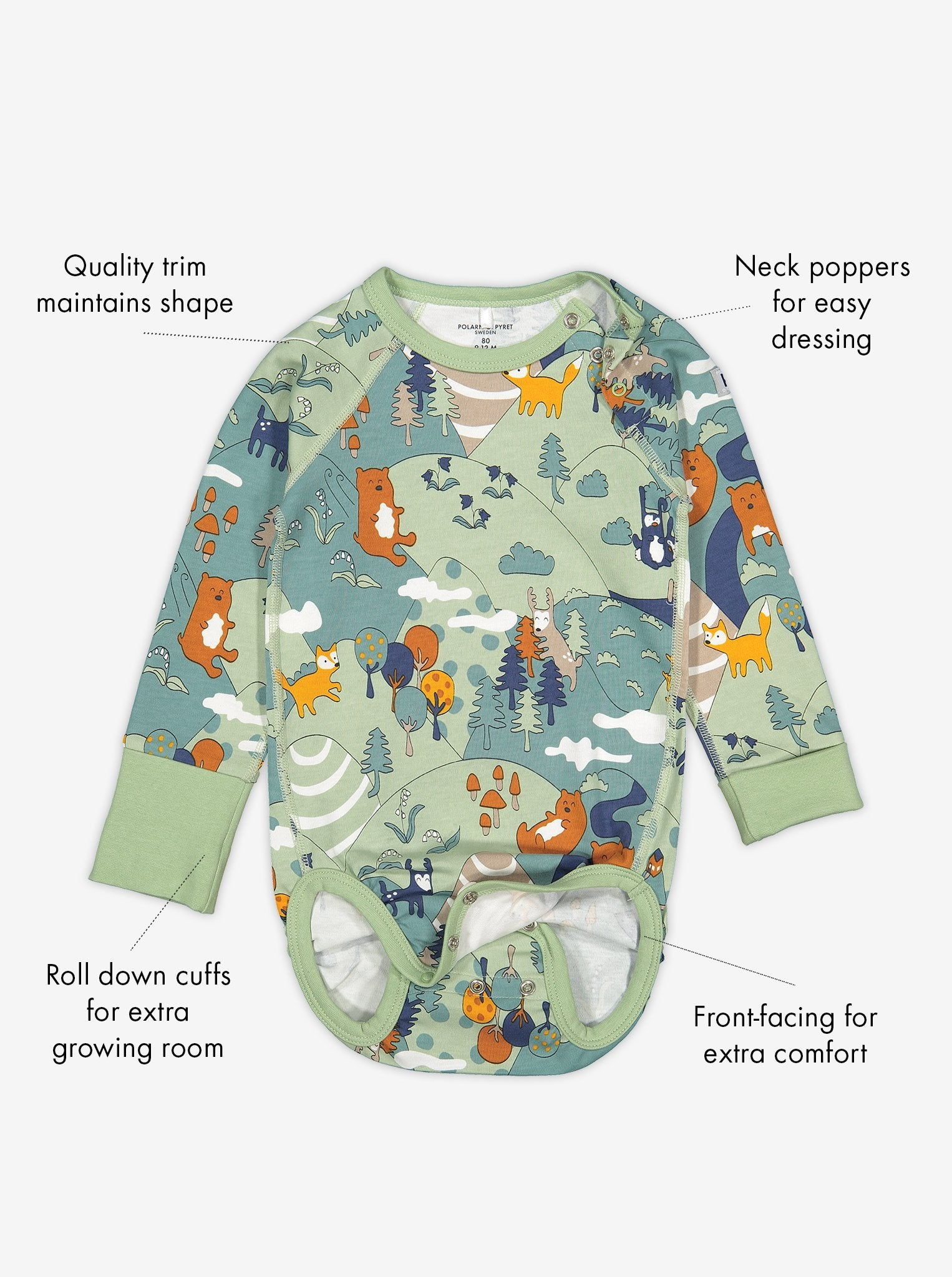 Nordic Forest Baby Bodysuit
