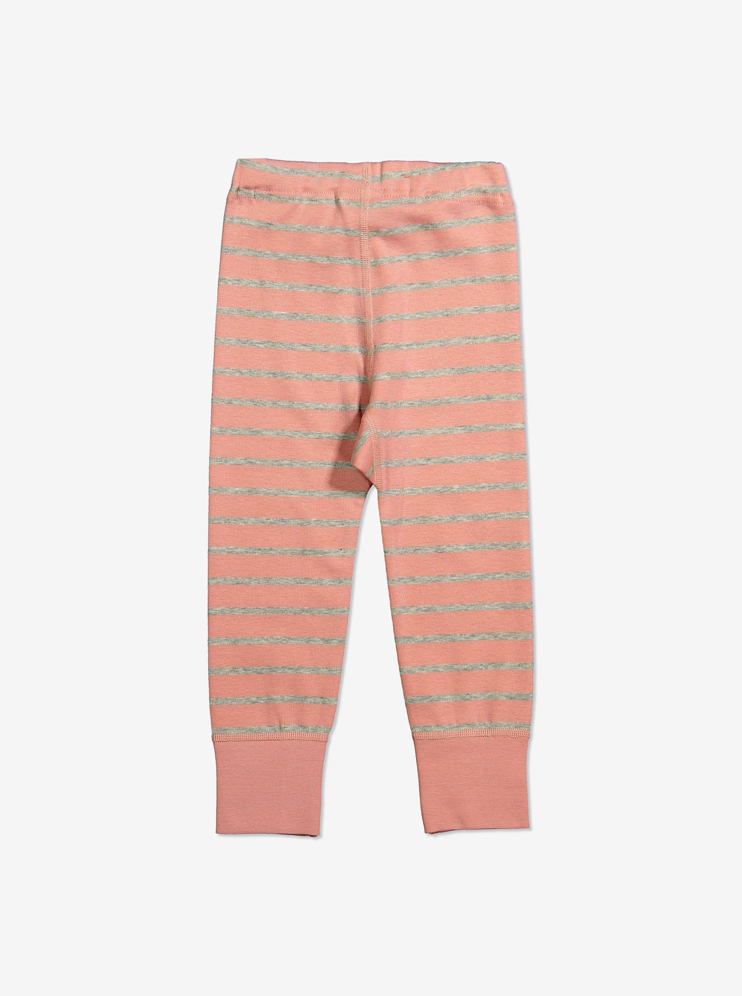 Striped Kids Leggings-Girl-1-6y-Pink