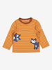 Fox Applique Baby Top-Unisex-2m-1y-Brown