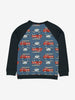 Vehicle Print Kids Top-Unisex-1-8y-Blue