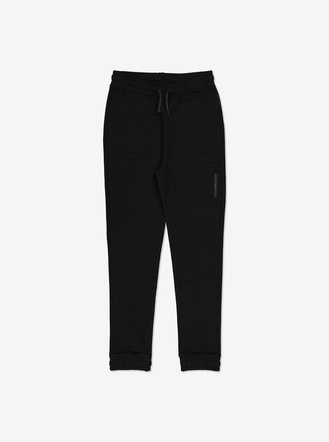 Navy Kids Joggers-Unisex-6-12y-Black