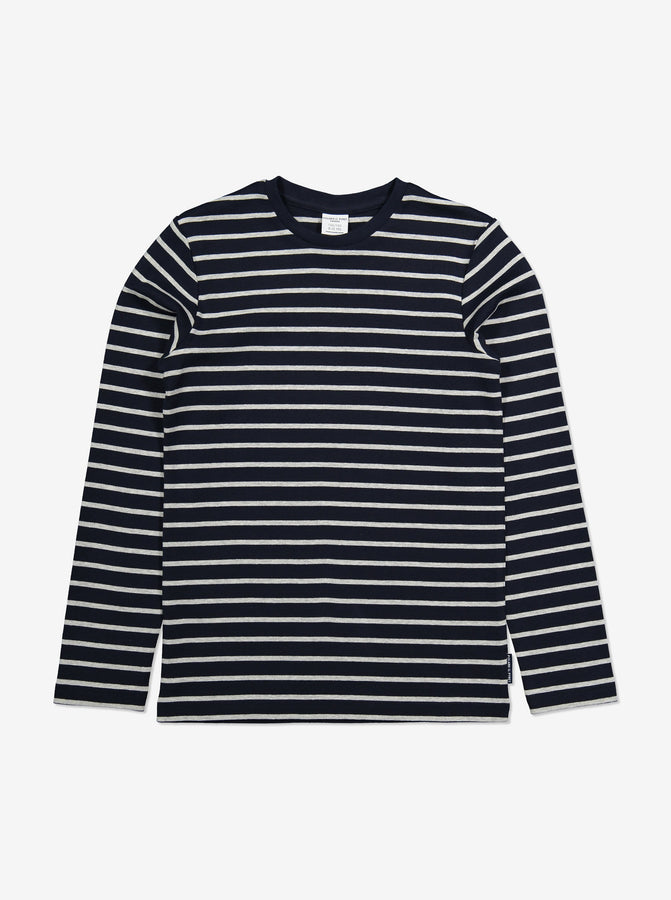 Striped Kids Top-Unisex-6-12y-Navy