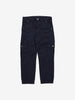 Kids Navy Blue Organic Cotton Cargo Trousers