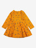 Forest Friends Baby Dress-Girl-0-1y-Yellow