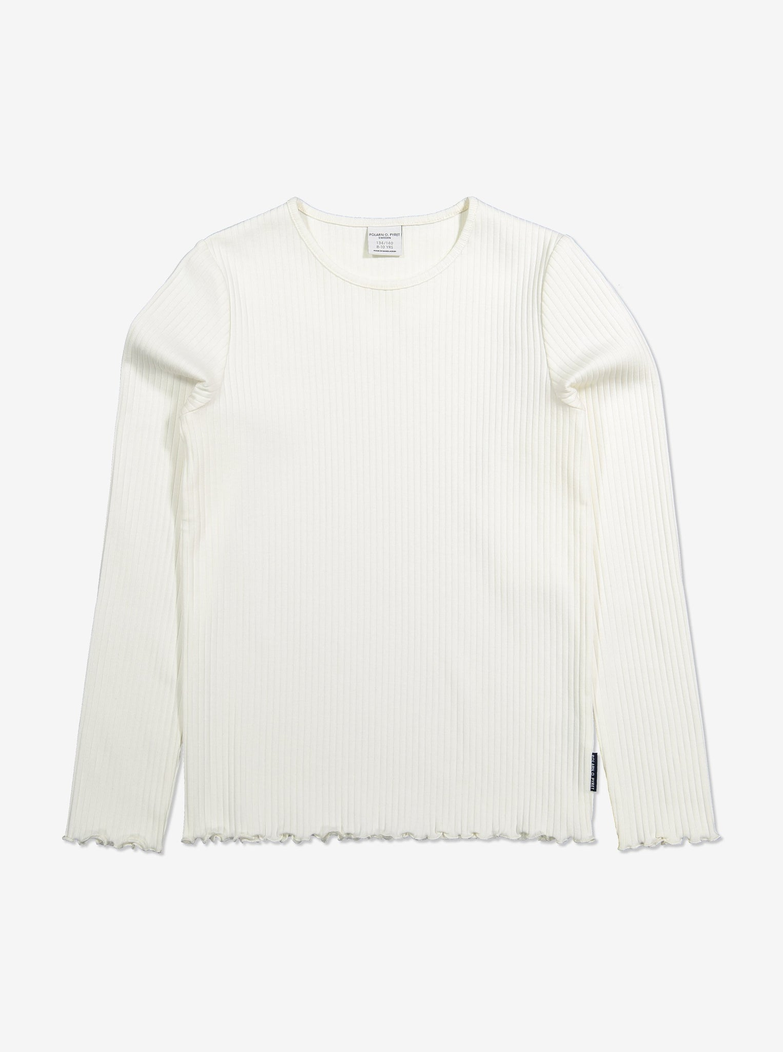 Kids Ribbed White Organic Top