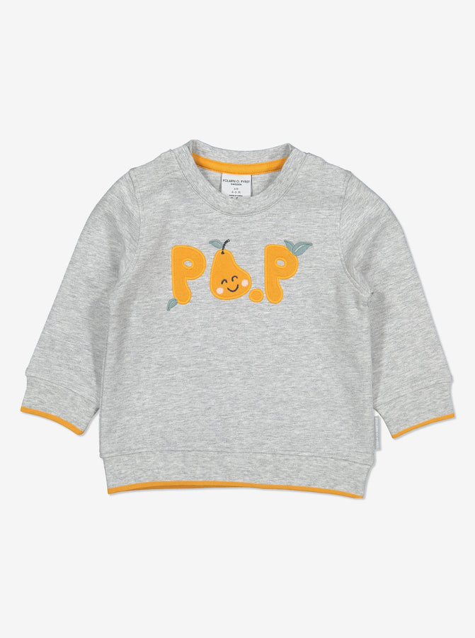 PO.P Applique Baby Top-Unisex-2m-1y-Grey