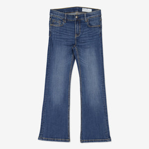 Flared Kids Jeans-Unisex-6-12y-Blue