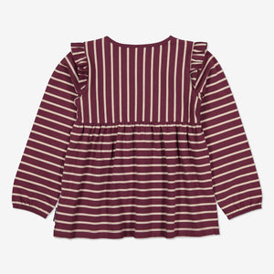 Striped Kids Top-Girl-1-6y-Purple