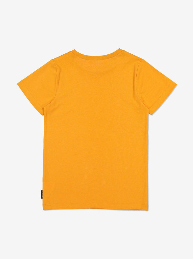 Organic Kid T-Shirt-Unisex-6-12y-Yellow