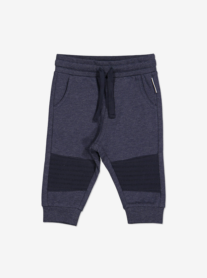 Knee Patch Baby Joggers-Unisex-0-1y-Navy