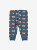 Vehicle Print Baby Trousers-Unisex-0-1y-Blue