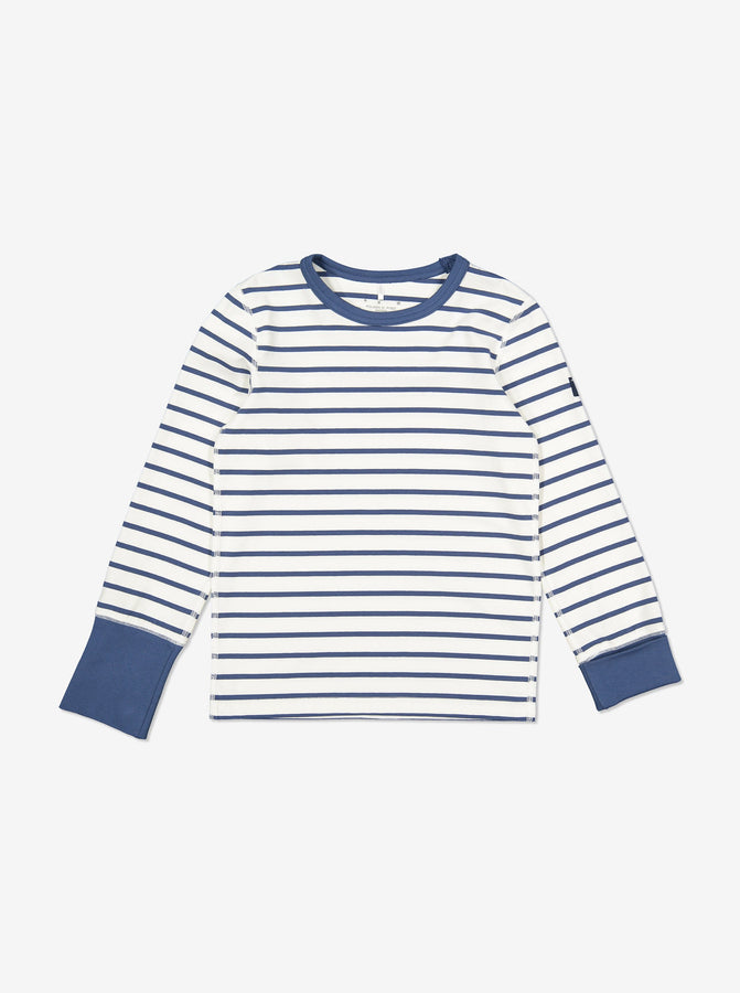 Striped Kids Pyjamas-Unisex-1-12y-Blue
