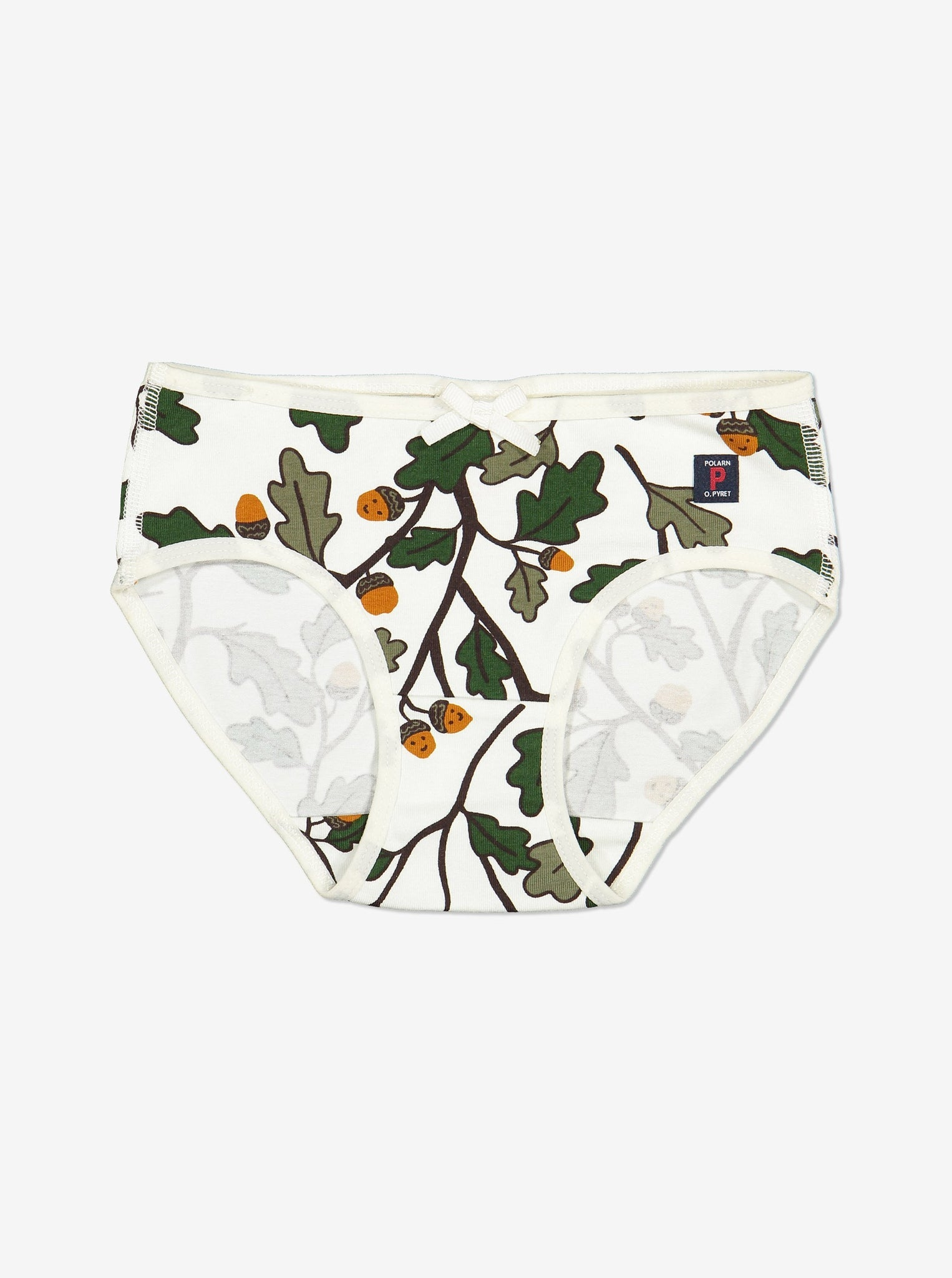 Acorn Print Girls Briefs-Girl-1-12y-Natural