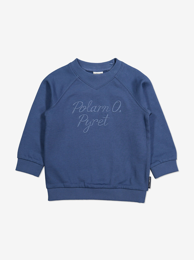 Embroidered Kids Sweatshirt-Unisex-1-6y-Blue