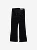 Girls Black Flared Velvet Trousers 6-12y