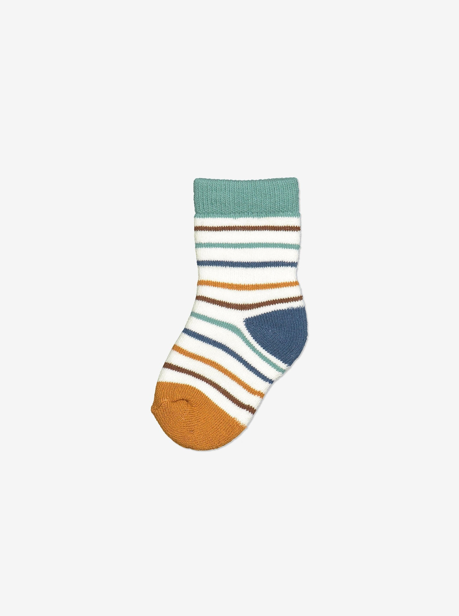 Striped Baby Socks-Unisex-0-1y-Natural