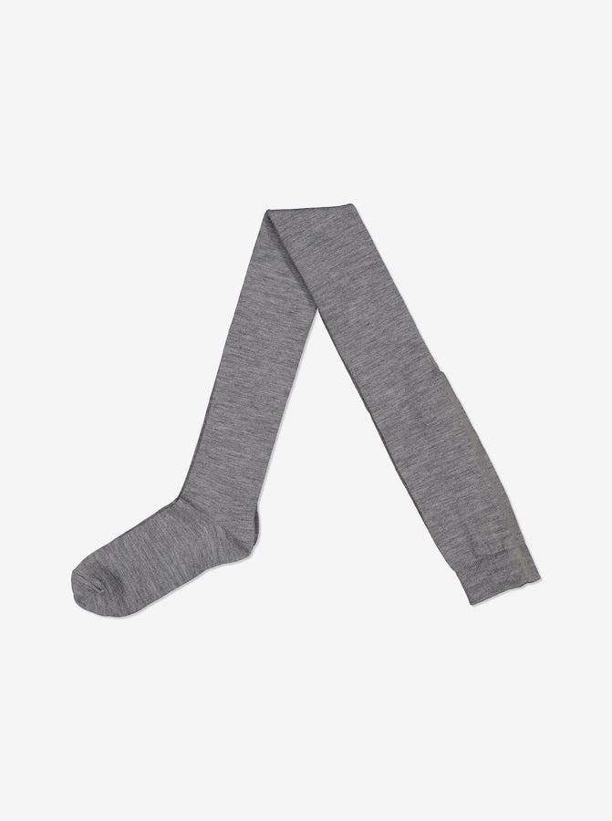 Merino Kids Tights-Unisex-6-12y-Grey