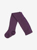 Unisex Purple Merino Antislip Tights 0-12y