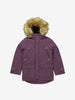 Kids Padded Parka Coat-2-12y-Purple-Girl