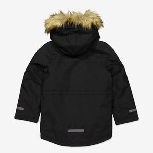 Kids Padded Parka Coat-6-12y-Black-Boy