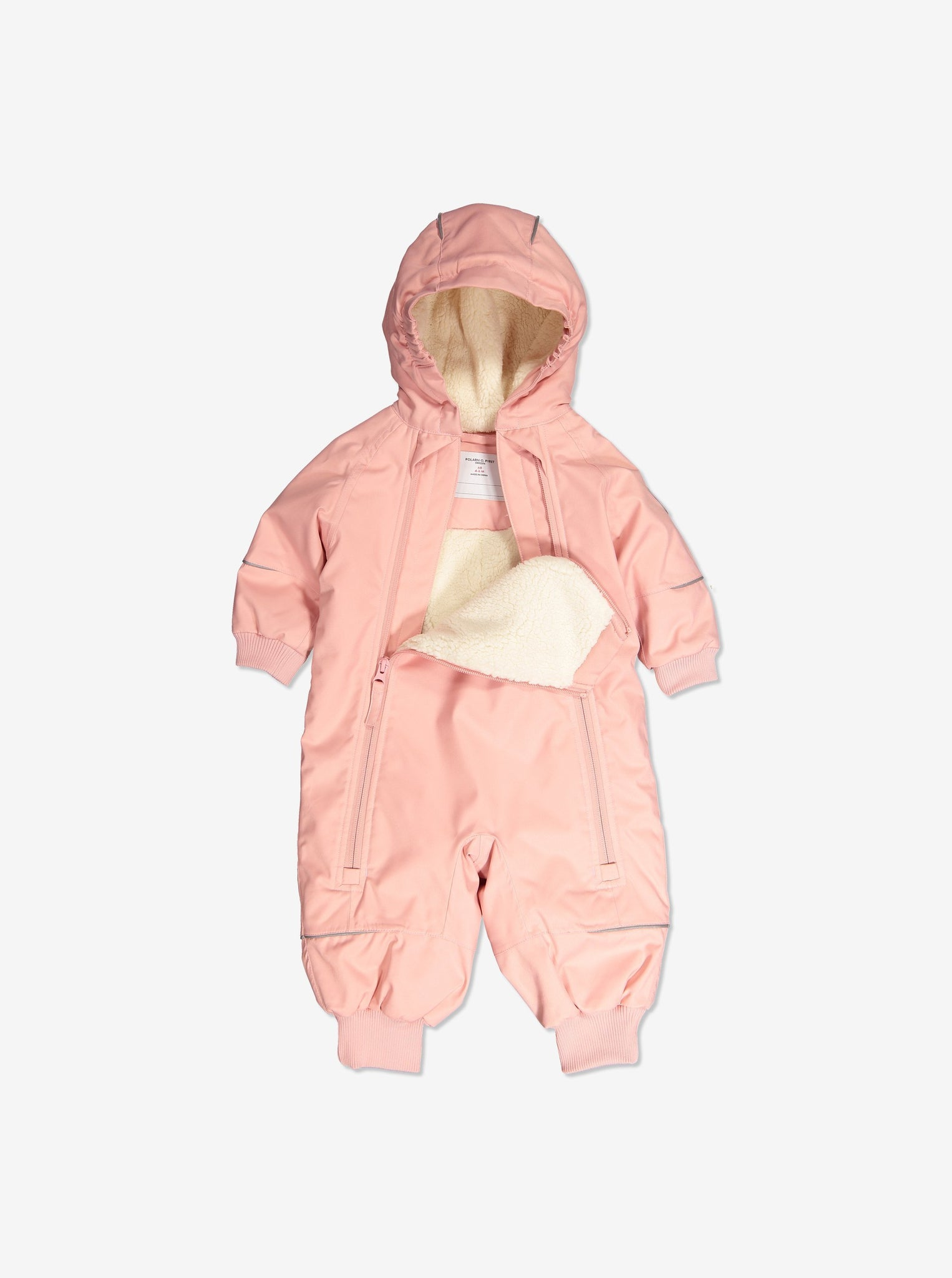Waterproof Lightly Padded Baby Overall-1-9m-Pink-Girl