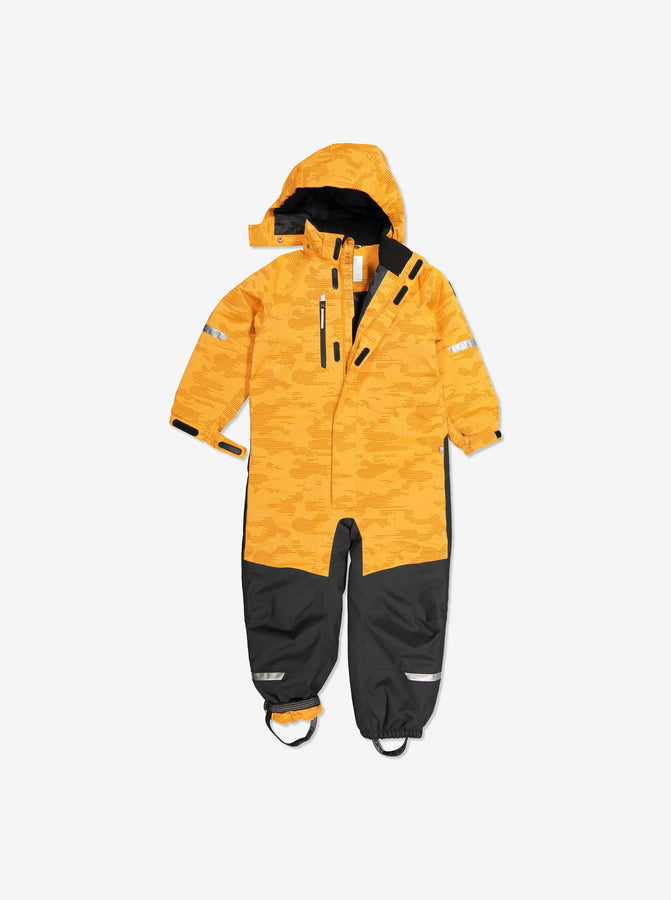 Padded Winter Kids Overall-1-6y-Yellow-Unisex
