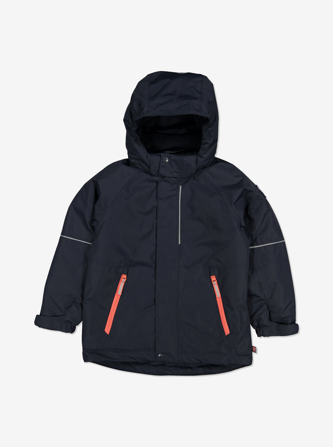 Padded Winter Kids Coat-1-10y-Navy-Boy