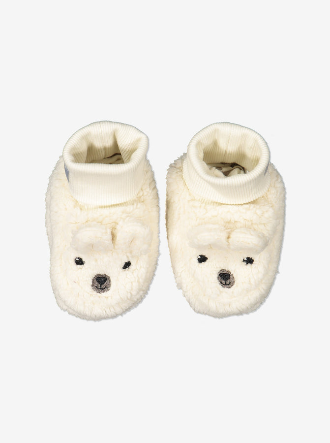 Teddy Fleece Baby Booties-1-9m-Natural-Unisex