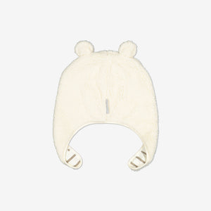 Teddy Fleece Baby Hat-1-9m-Natural-Unisex