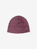 Kids Purple Fleece Lined Beanie Hat