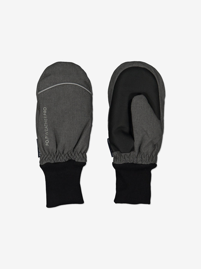 Kid Padded Winter Mittens-2-12y-Grey-Unisex
