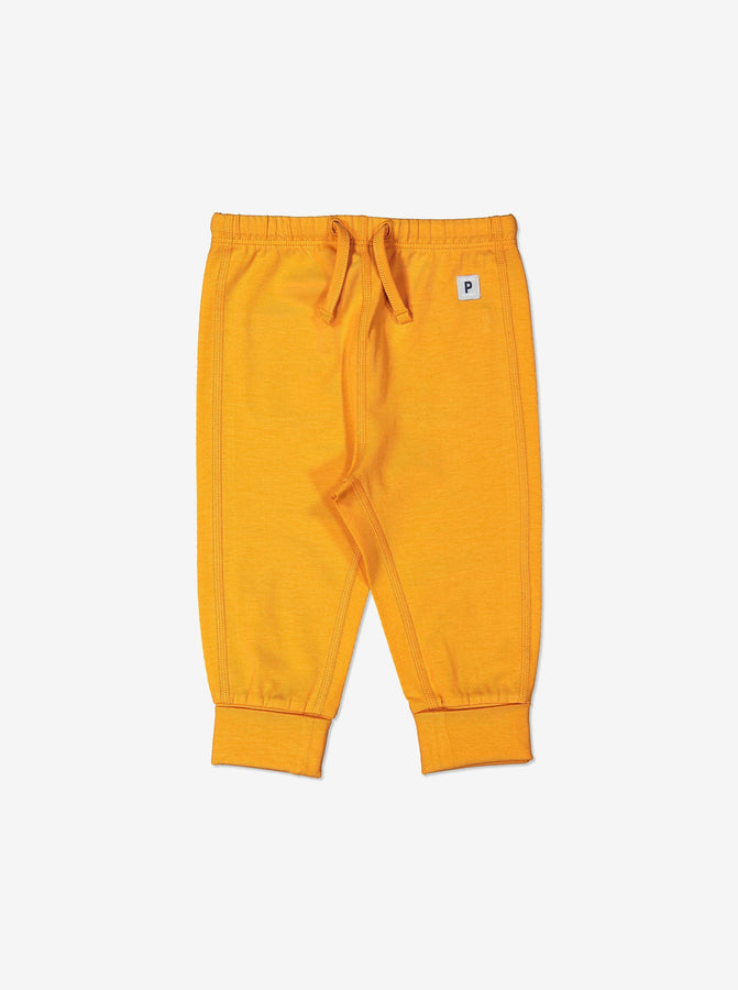 Yellow Organic Cotton Newborn Baby Trousers