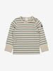 Unisex Green Striped Kids Top 1-6y