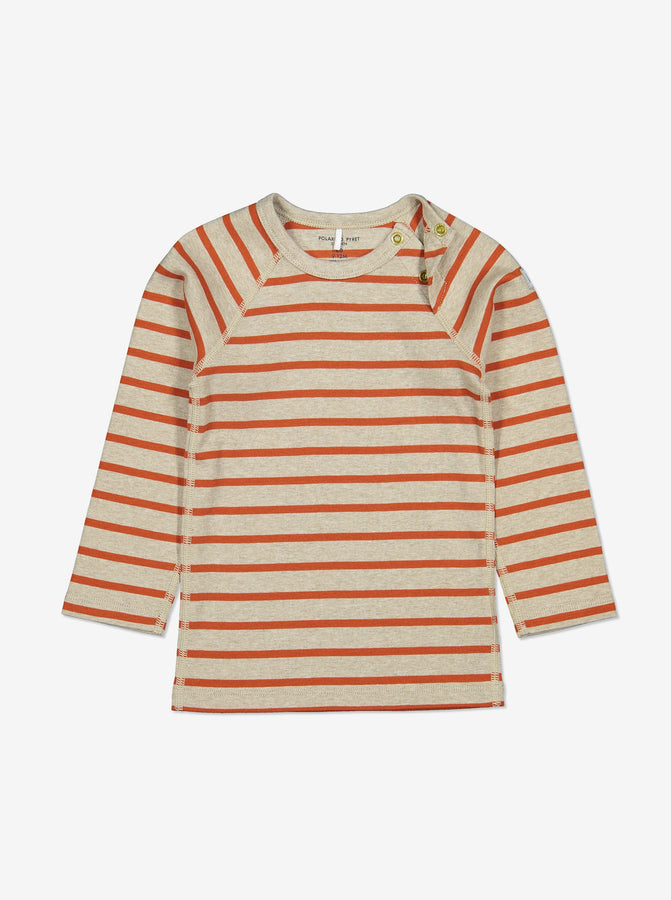 Unisex Red Striped Wraparound Baby Top 0-1y