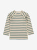 Unisex Green Striped Wraparound Baby Top 0-1y